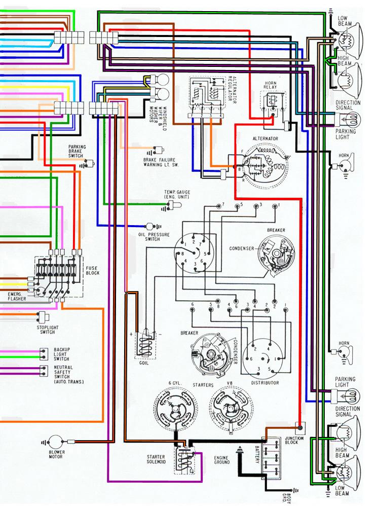 1967 Firebird V8 Electrical Wiring, 1967 Firebird Wiring Schematic